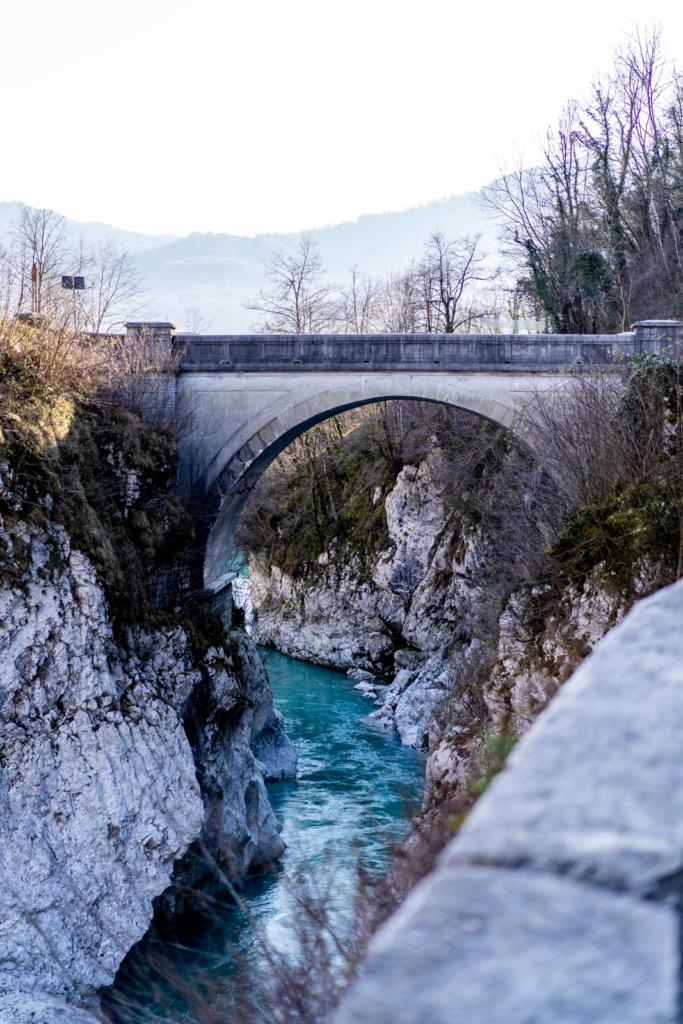 Napoleon Brücke auf dem Weg zum Vršič-Pass